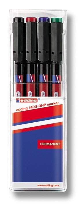 OHP permanent marker 0,3mm, set 1/4 140S sortirano