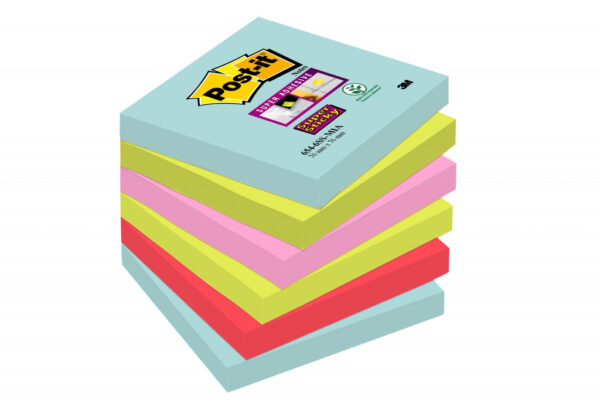 Post-it Super Sticky , MIAMI, 90L, 6-pack